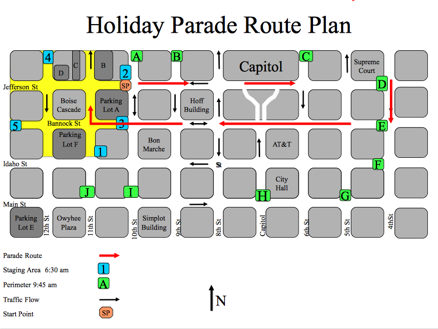 Entry Lication Parade Route